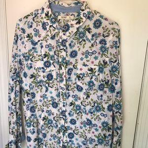 Floral Pearl Snap Button Down Shirt